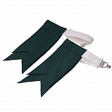 Junior Flashes for Kilt Hose, Dark Green
