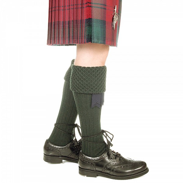 Piper Kilt Socks Rifle Green