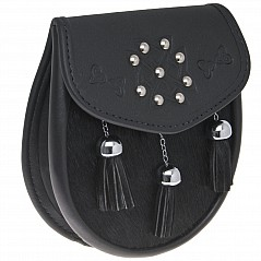 This hand crafted celtic cross design with chrome studs is perfect for your highland attire! Semi Dress Sporran Pouch SSD11 Sporran features include: Hand made in Scotland