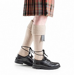 The Piper Kilt Hose has become increasingly popular amongst individuals and especially band members. The length of the turn over section can be adjusted to meet individual's needs and