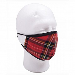 Tartan Face Mask, various tartans (please select) This face mask has an outer layer of hypoallergenic polyviscose cloth and a breathable inner lining, with elastic straps, making them