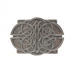"Finest quality pewter belt buckle. Features celtic lace design Fits full dress belt 2 1/2"" (ca. 63.5 mm) and also standard kilt belt up to 2 1/4"" (ca. 57 mm) Finest quality, cast from 100%"
