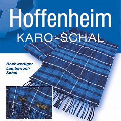 The Hoffenheim Tartan Scarf is made with 100% real lambs wool. 20 cm x 180 cm
