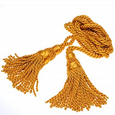 Bagpipe cords, silk, gold Silk Colour: Gold