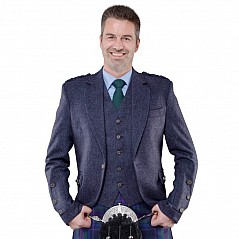 Lomond Blue tweed jacket and waistcoat A very smart dark blue twill weave Herringbone tweed jacket and waistcoat that will match a wide range of tartans. Tailored in Scotland to the highest