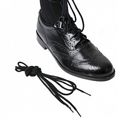 "Length:83"" (210 cm) Colour: black Price for one pair of laces without shoes and without leather Tassels"