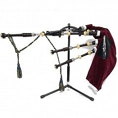 The Bagpipe Stand A purpose built bagpipe stand. It's practical, it's portable and is very solidly built. Practical. Ideal for every day use of your pipes, with your pipes ready to hand