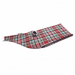 Tartan bagpipe cover (polyester). Every piece of polyester/viscose tartan is finished with DuPont Teflon® as standard, thus maximising stain resistance. It is also hard wearing and easy to