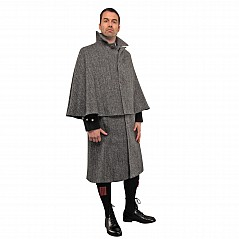 Harris Tweed Cape, made to measure Umhang aus 100% schwere Harris Tweed Wolle (abgebildet: Dark Grey Herringbone Harris Tweed)