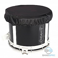 "Snare Drum Rain Cover 14"" The drum cover is made for use when playing outdoors to protect the drum from rain and moisture When rain lies on the head, it flattens the drum and produces a"