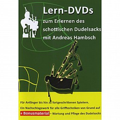 Learning DVDs to learn the Scottish bagpipe For beginners to advanced players In German