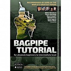 Bagpipe Tutorial (English) by Andreas Hambsch, including auto CD. The book is suitable for absolute beginners all the way to advanced pipers, for studying on your own or as a classroom companion