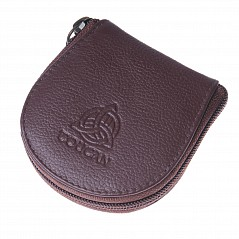 Brown leather sporran wallet Dimensions 8.5 cm(H) x 8 cm(W) Price without content