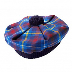 Highland Titles (Laird of Glencoe, Laird of Lochaber) Tartan Tam The tam o'shanter is a bonnet made of wool, originally knitted in one piece, traditionally stretched on a wooden disc to give