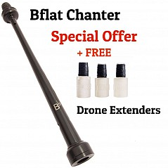 R. G. Hardie Infinity Bflatr Plastic Pipe Chanter (466 Hz Bflat). This chanter is ideal for playing with other instruments (brass band, folk group, orchestra etc.) in the key of Bb. To avoid