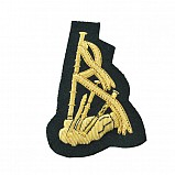 Pipe-Badge embroidered Gold on black