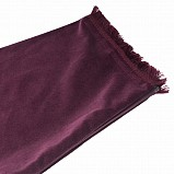 Bagpipe Cover, Velvet and wool fringing. with Zipper. Bordeaux- Bordeaux