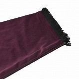 Bagpipe Cover, Velvet and wool fringing.Burgundy / Black