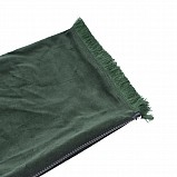 Bagpipe Cover, Velvet and wool fringing. with Zipper. Dark green - Dark green