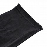 Bagpipe Cover, Velvet and wool fringing. with Zipper. Black - Black