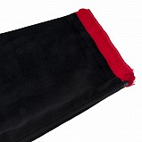 Bagpipe Cover, Velvet and wool fringing. with Zipper. Black - Red