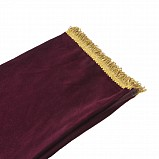 Bagpipe Cover, Velvet with Lurex fringing. ZIPPER. Bordeaux/Gold