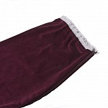 Bagpipe Cover, Velvet with Lurex fringing. ZIPPER. Bordeaux/Silver