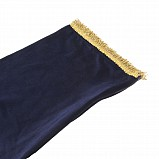 Bagpipe Cover, Velvet with Lurex fringing. ZIPPER. Dark blue/Gold
