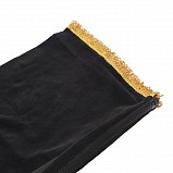 Bagpipe Cover, Velvet with Lurex fringing. ZIPPER. Black/Gold