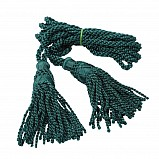 Bagpipe cords, silk, botte green