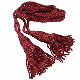 Bagpipe cords, silk, bordeaux (maroon)