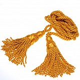 Bagpipe cords, silk, gold