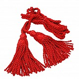 Bagpipe cords, silk, scarlet red