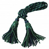 Bagpipe cords, silk, Black Watch