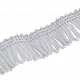 Fringing for Bagpipe Cover, silver