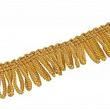Fringing for Bagpipe Cover, gold