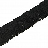 Fringing for Bagpipe Cover, black