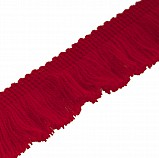 Fringing for Bagpipe Cover, Red